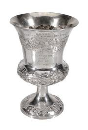 An Early Victorian Silver Trophy Cup By William Hewitt,