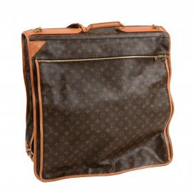 Louis Vuitton, A Brown Canvas And Leather Suit Carrier