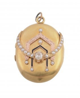 A Victorian Gold And Diamond Locket, Circa 1880