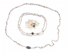 Two Single Strand Baroque Pearl Necklaces