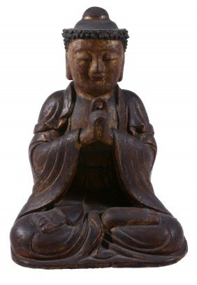 A Chinese Dry Lacquer Figure Of The Buddha, Qing