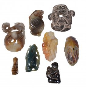 A Collection Of Chinese Jade And Hardstone Carvings,