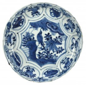 A Chinese Blue And White Kraak Dish, Wanli
