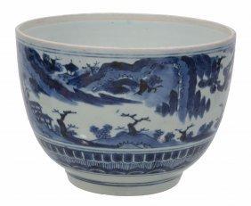 An Arita Porcelain Deep Bowl , The U-shaped Vessel