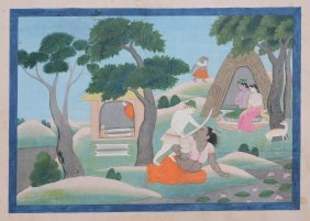 A Scene From The Ramayana: Lakshmana And The Ogress,