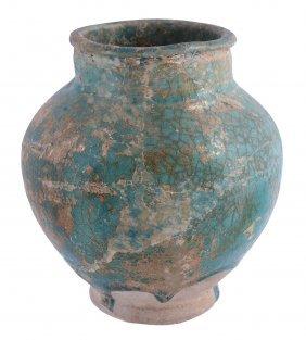 A Kashan Vase, 10th Century, The Bulbous Body On A
