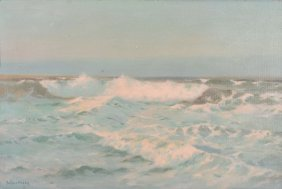 Julius Olsson (1864-1942) - Seascape