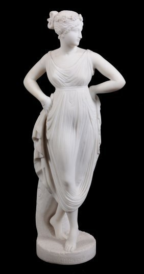 After Antonio Canova , A Sculpted White Carrara Marble
