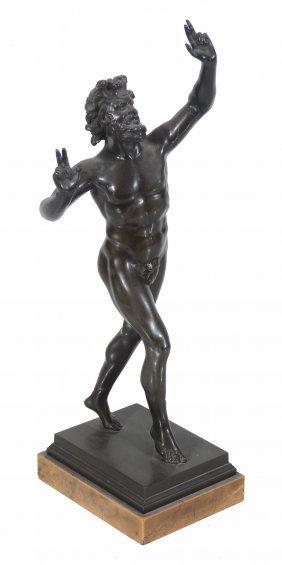 An Italian Patinated Bronze Model Of The Dancing Faun