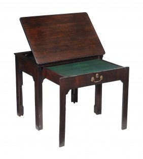 An Early George Iii Mahogany Architect's Table , Circa
