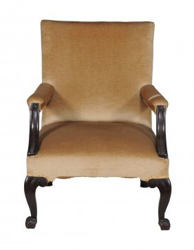 A Mahogany Armchair In George Iii Style, 18th Century