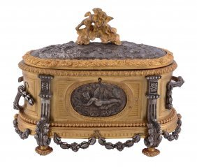 A Continental, Probably French Parcel Silvered And Gilt