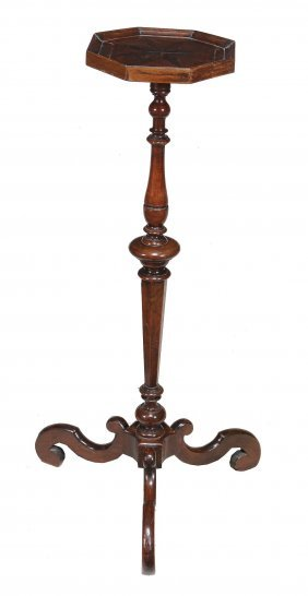 A Walnut Candle Stand , Late 17th/early 18th Century,