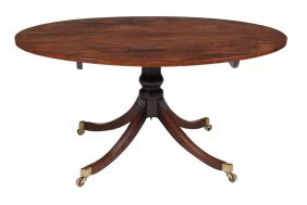 A George Iii Mahogany Oval Dining Table , Circa 1790,