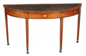 A Satinwood Demi-lune Hall Table, Circa 1790 And Later