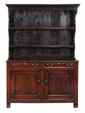 An Oak Dresser , 18th Century, With Canopy Plate Rack