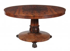 A William Iv Figured Rosewood Centre Table , Circa
