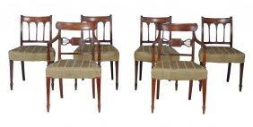 A Pair Of Regency Mahogany Carver Chairs , Circa 1815