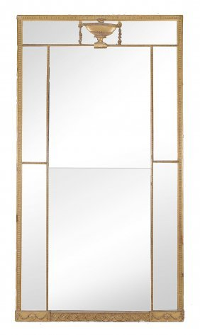 A Giltwood And Composition Rectangular Pier Mirror With