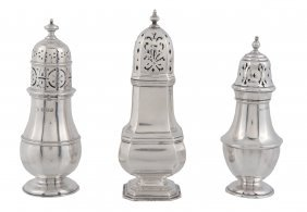 A Silver Octagonal Baluster Caster By Mappin And Webb,