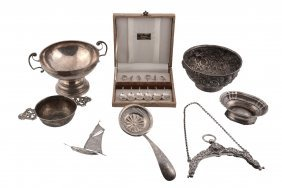 A Collection Of Continental And Other Foreign Silver