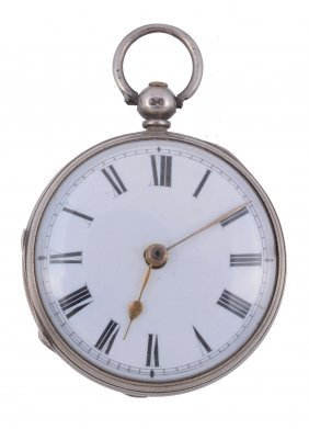 A Silver Open Face Pocket Watch, No. 1403, Hallmarked