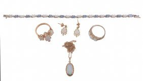 A Small Collection Of Opal Jewellery, Comprising