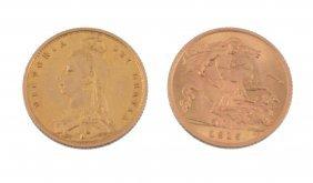 Victoria, Half Sovereign 1887 , George V, Half