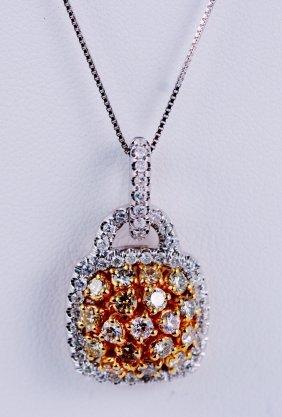 Multi Color Diamond Necklace 14k.