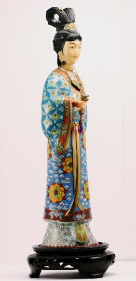 Cloisonne Standing Beaty In Turquoise Color