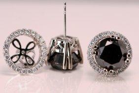 ER Black & White Diamonds 14k Wt Gold