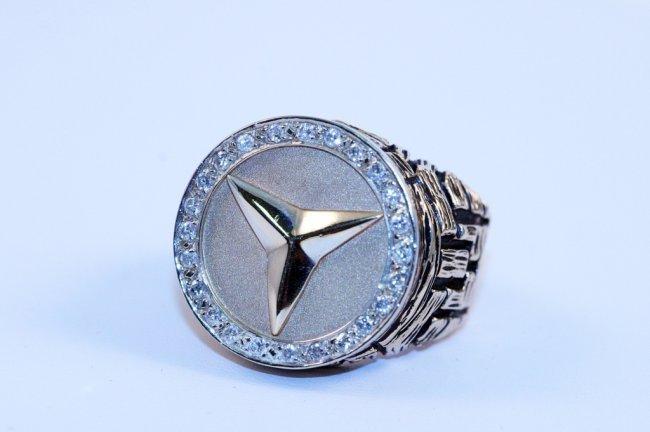 14k yellow gold mercedes diamond ring lot 95 for 14k gold mercedes benz pendant