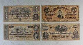 A Lot 4 American Antique Paper Money