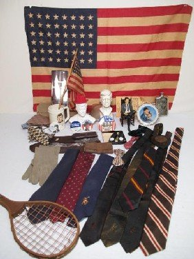 KENNEDY COLLECTIBLES, TIES, FLASKS, GUY STUFF