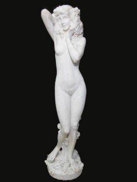 ART NOUVEAU MARBLE SCULPTURE OF A NUDE FEMALE