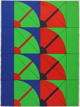 Arnaldo Pomodoro, Litografia A Colori, 1968