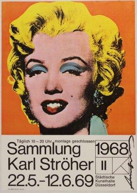 Andy Warhol, Manifesto Originale Della Mostra Karl