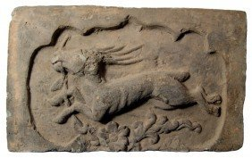 Antique Grey Limestone Tile With Flying Horse