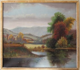 Hudson River School Oil On Canvas