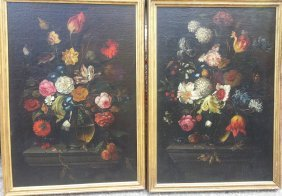 Dutch Old Master Floral Pair