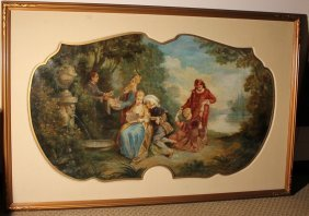 Boucher Circle French Old Master Painting Large