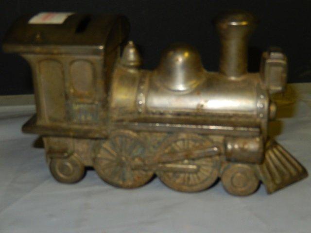 Vintage piggy banks silverplate train piggy bank 3 5 lot 329 - Train piggy banks ...