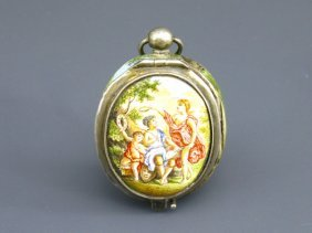 AN EARLY VIENNESE ENAMEL VINAIGRETTE