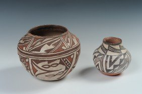 TWO ACOMA POTTERY OLLAS