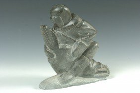 AN ESKIMO SOAP STONE CARVING