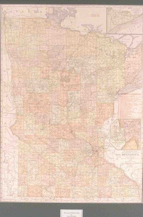 A 1913 MINNESOTA COMMERCIAL MAP, RAND MCNALLY