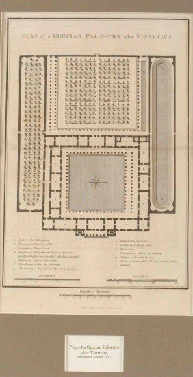TWO PLANS OF GRECIAN PALAESTRA AND PROPYLAEA