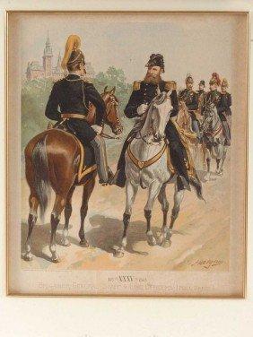 THREE H.A. OGDEN US ARMY UNIFORM LITHOGRAPHS, 1880'S