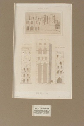 ENGRAVINGS OF ITALY ARCHITECTURE BY BEILLET, 1870