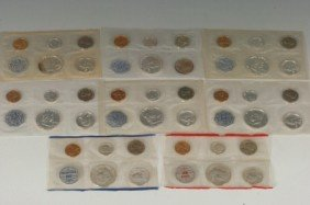 LOT OF EIGHT U.S. PROOF SETS CIRCA 1960